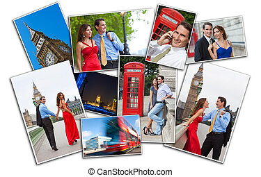Montage of Romantic Couple in London England - Romantic man...