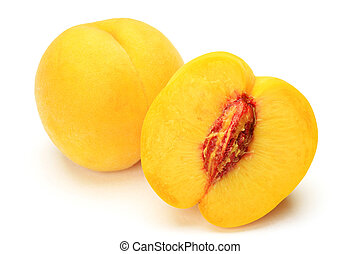 yellow peach - I took  yellow peach in a white background.