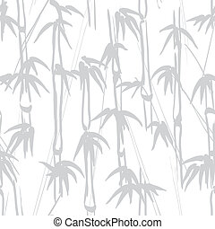 Bamboo pattern - Gray bamboo seamless on white background...