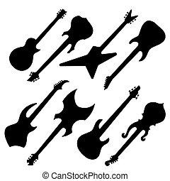 Siluetas, guitarras