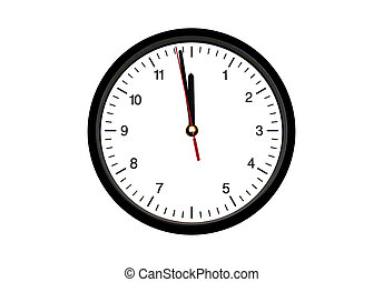 Clock isolated on the white background