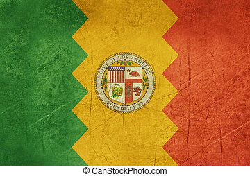 Grunge Los Anglese city flag