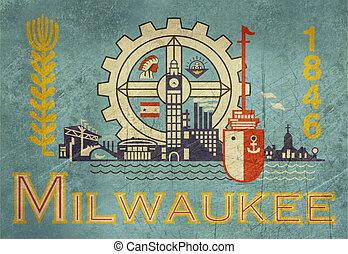 Grunge Milwaukee flag