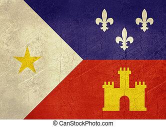Grunge Acadiana flag