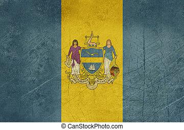 Grunge Philadelphia city flag