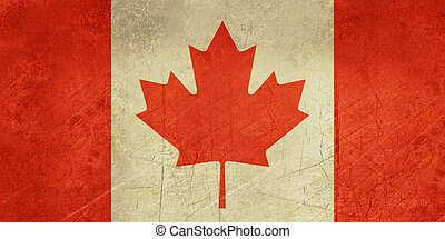 Grunge Canada Flag - Grunge sovereign state flag of country...