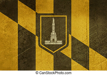 Grunge Baltimore city flag - Grune city flag of Baltimore...