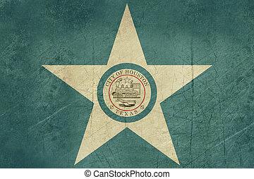 Grunge Houston city flag