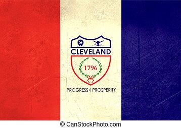 Grunge Cleveland city flag