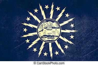 Grunge Buffalo City flag