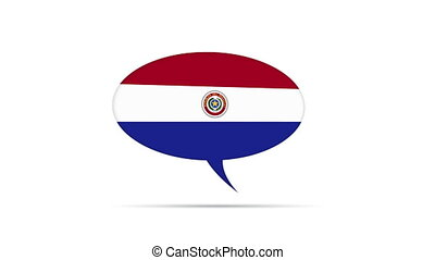Paraguay Flag Speech Bubble - Spinning Paraguay Flag Speech...