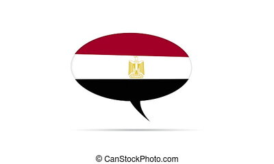 Egypt Flag Speech Bubble - Spinning Egypt Flag Speech Bubble