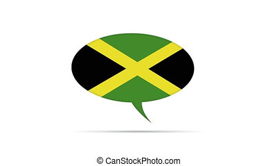 Jamaica Flag Speech Bubble - Spinning Jamaica Flag Speech...