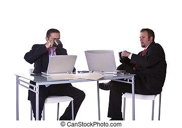 Businessmen Working Together