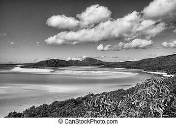 Whitehaven Beach, Queensland, Australia - Overview of...