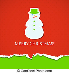 Christmas background with snowman Vector illustration Eps10...