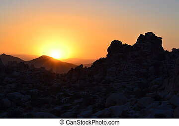Sunset in Joshua Tree, 1