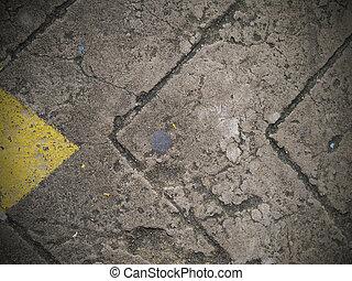Abstract line on asphalt road