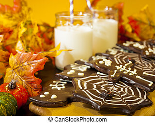 Halloween Snack - Halloween gourmet cookies with holiday...