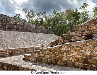 A Mayan Ball field, Yucatan, Mexico
