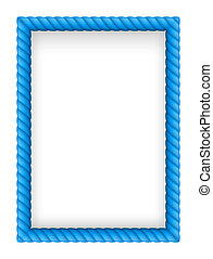 Rope Border - Blue Rope Border. Illustration on white...