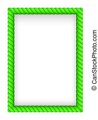 Rope Border - Green Rope Border. Illustration on white...