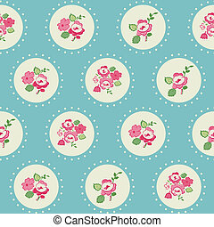 Seamless Vintage Flower Background - for design and scrapbook - in vector