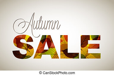 Vector fall sale poster / illustration with colorful leafs