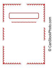 Blank with border.