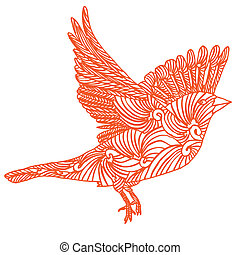 bird fly  - bird fly- hand draw vectorized