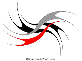 Abstract design. Vector art.