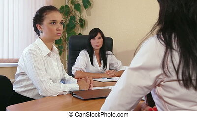 Meeting of Colleagues - Business Women Working Together in a...