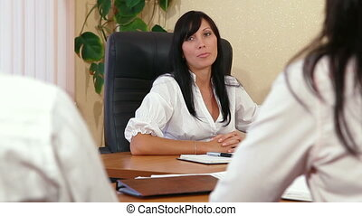 Business Colleagues In A Meeting - Business Women are...