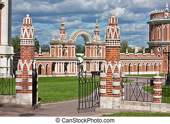 Tsaritsyno Park,Moscow - Gate in Tsaritsyno park in Moscow