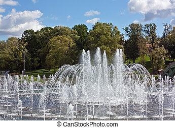 Tsaritsyno Park,Moscow - Fountain in Moscow's Tsaritsyno...