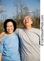 Happy senior couple - A shot of a senior couple having a...