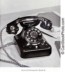 old Siemens 36 series telephone from the 1930s - GERMANY,...