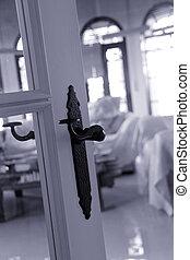 old black doorhandle