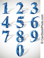 Smash vector numbers. - Abstract detailed smash vector...