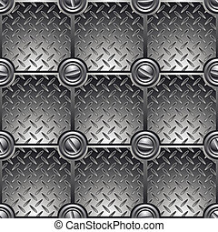Tiled metal background. - Tiled metal background connected...