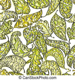 Spring leaves seamless pattern.