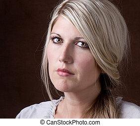 portrait of a middle aged 30-40 woman - Portrait of a...