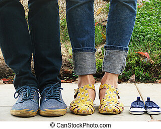 Family shoes cute baby announcement - Family shoes or cute...