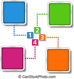 Diagram template with four elements, vector eps10...