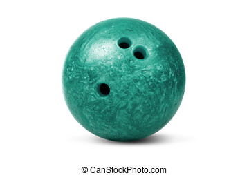 Bowling ball - Isolated bowling ball on a white background