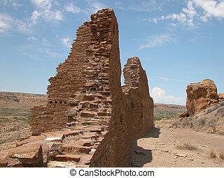 Chaco Ruins 8-New Mexico - The ancient ruins at Chaco...