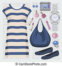 Fashion set with a tunic