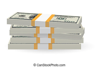 Banknotes stack - Illustration of money banknotes stack over...