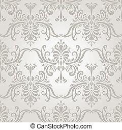 vector, Seamless, vendimia, papel pintado, patrón