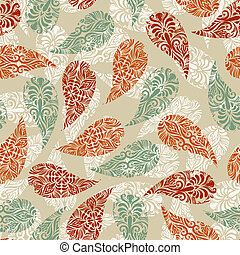 Vector Paisely Vintage Seamless Pattern